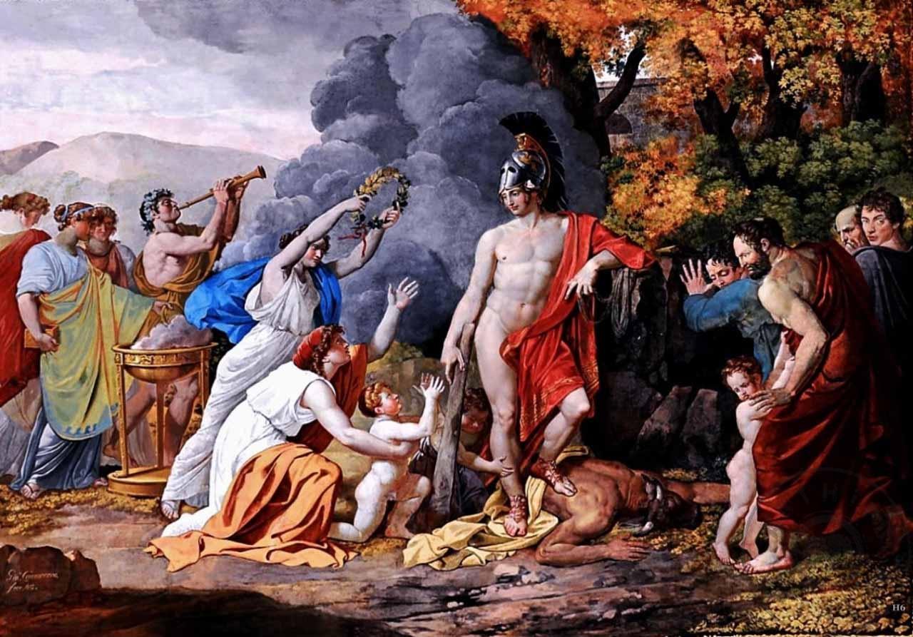 Neoklasizm Sanat Akımı, Yeni Klasizm Giuseppe Cammarano, Heseus Minotaur Üzerindeki Zafer, Arthipo Tablo Satış Sitesi, Sanat Akımları