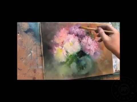 Yağlıboya çiçek Tabloları Nasıl Yapılır Yağlıboya çiçek Yapımı Izle