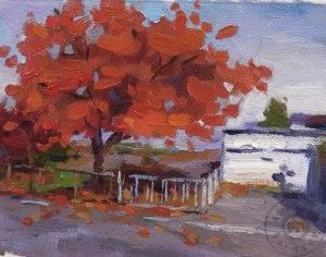 Yağlı Boya Sonbahar Resmi Nasıl Yapılır, Sonbahar Ağaç Resmi Çizimi