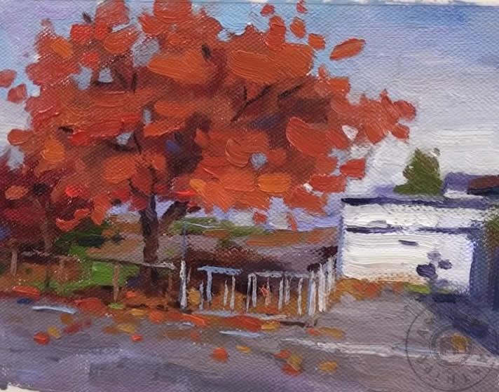 Yağlı Boya Sonbahar Resmi Nasıl Yapılır Sonbahar Ağaç Resmi çizimi