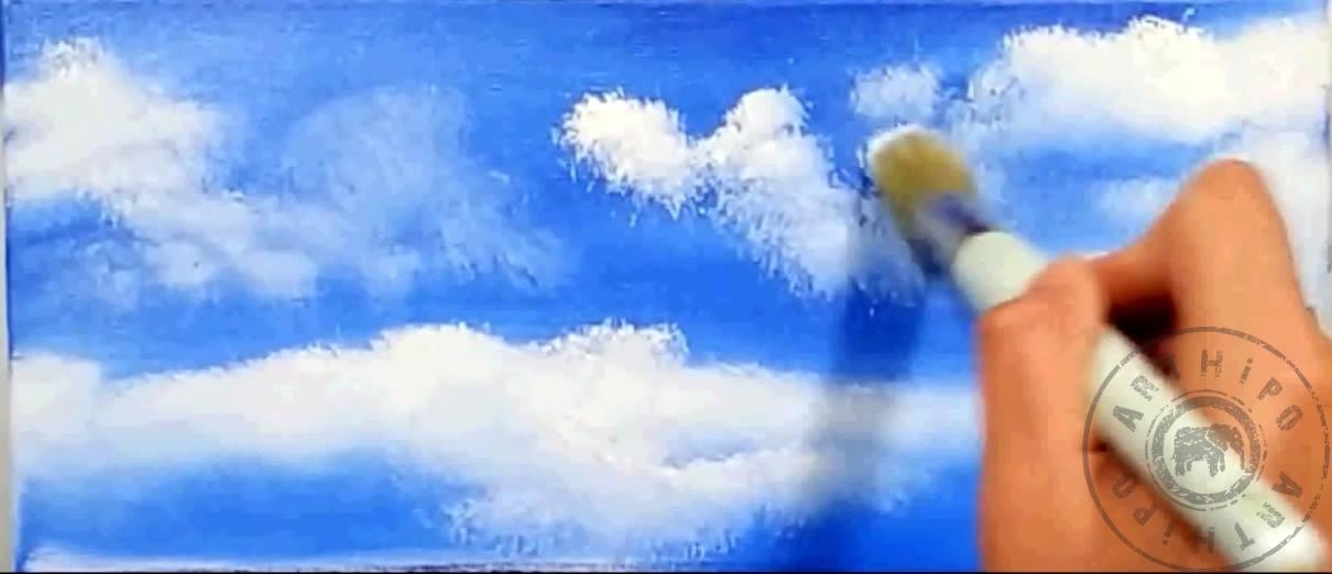 Yağlı Boya Gökyüzü Nasıl Yapılır Gökyüzü Resmi çizimi