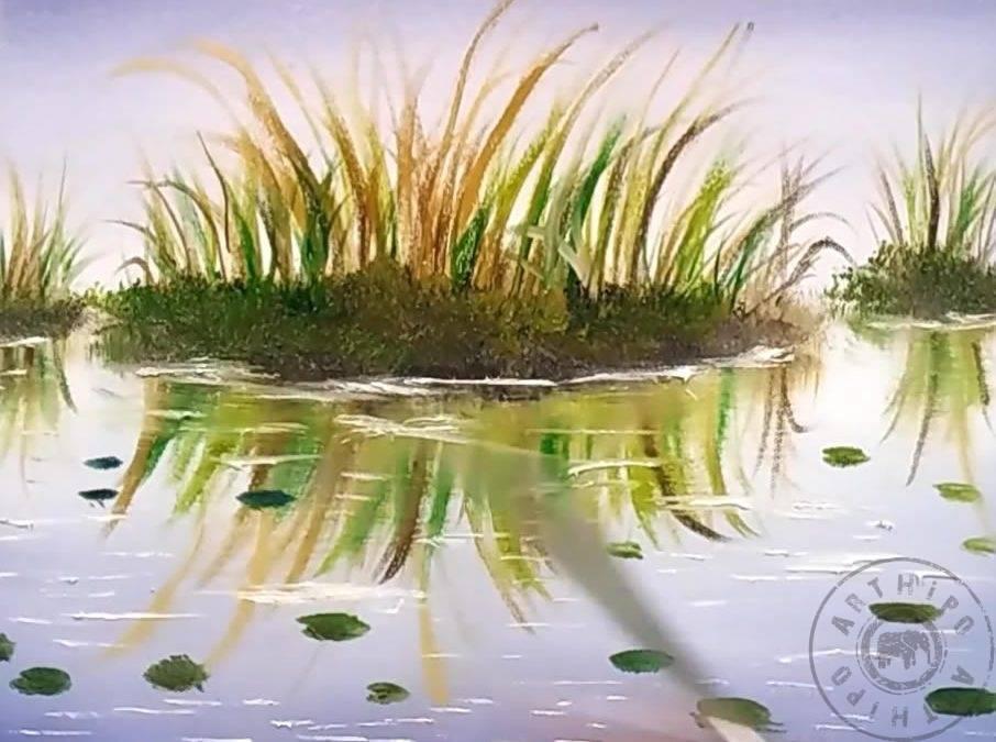 Yağlı Boya Göl Resmi Nasıl çizilir Yağlıboya Göl Yapımı
