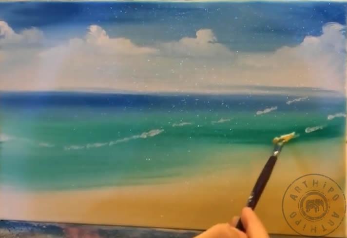 Yağlıboya Kumsal Resmi Nasıl Yapılır Yaz Mevsimi Nasıl çizilir