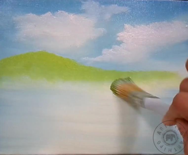 Yagliboya Manzara Kolay Cizim Video Manzara Resmi Cizimi