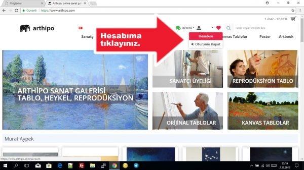 İnternetten Tablo Almak, Sanatçı Üyeliği