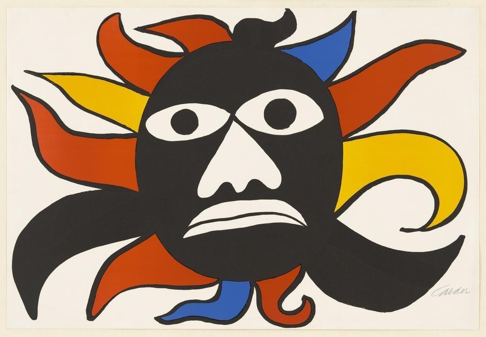 Alexander Calder Black Man, Canvas, Alexander Calder, kanvas tablo, canvas print sales