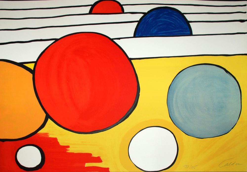 Alexander Calder Siyah Güneş, Kanvas Tablo, Alexander Calder, kanvas tablo, canvas print sales