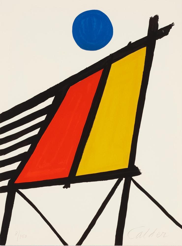 Alexander Calder Mavi Güneş, Kanvas Tablo, Alexander Calder