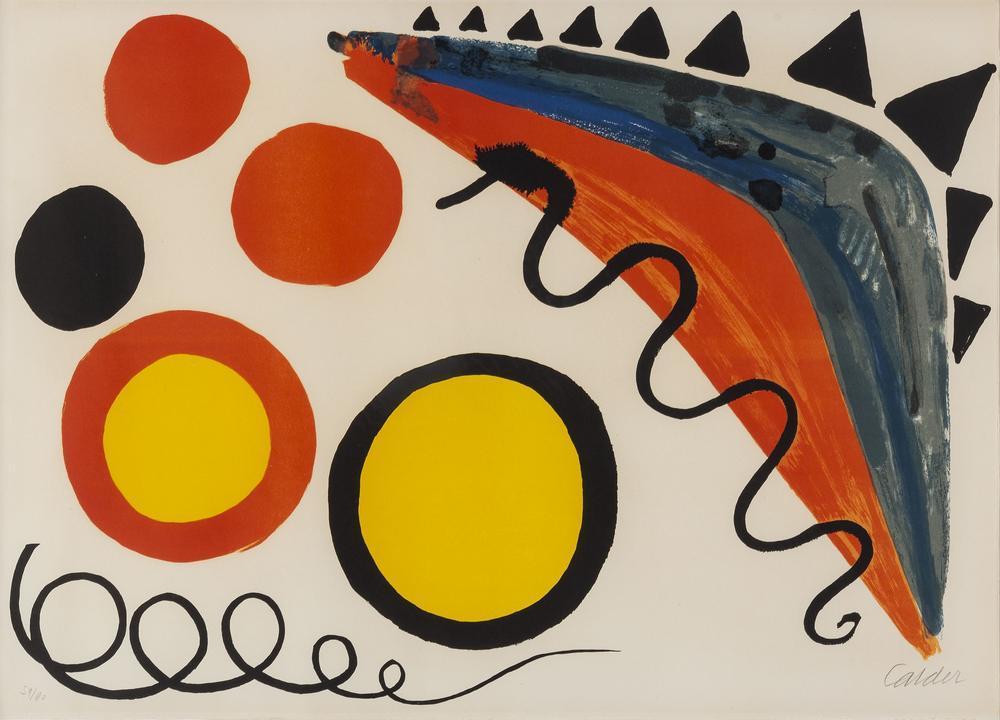 Alexander Calder Beyaz Gözlü Daire, Kanvas Tablo, Alexander Calder