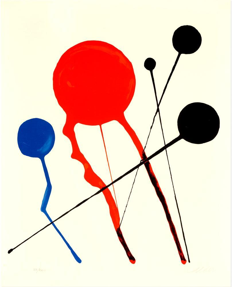 Alexander Calder Kuyruklu Yıldızlar, Kanvas Tablo, Alexander Calder