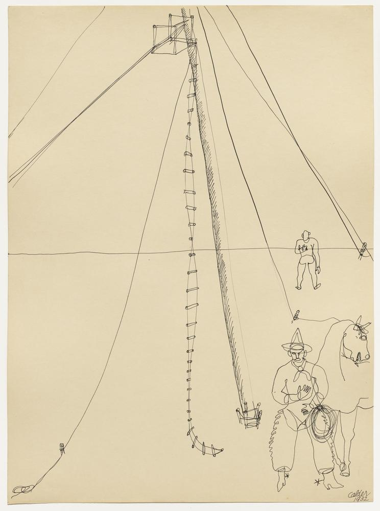 Alexander Calder Cowboy And Rope Ladder, Figure, Alexander Calder, kanvas tablo, canvas print sales