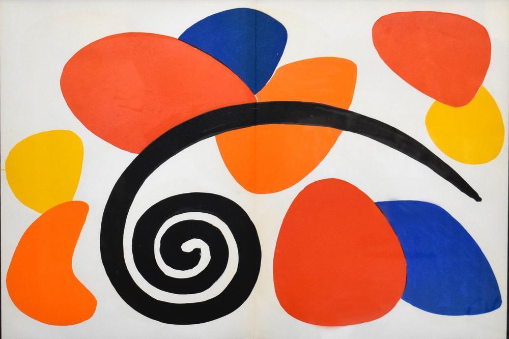 Alexander Calder Aynanın Arkasında, Kanvas Tablo, Alexander Calder