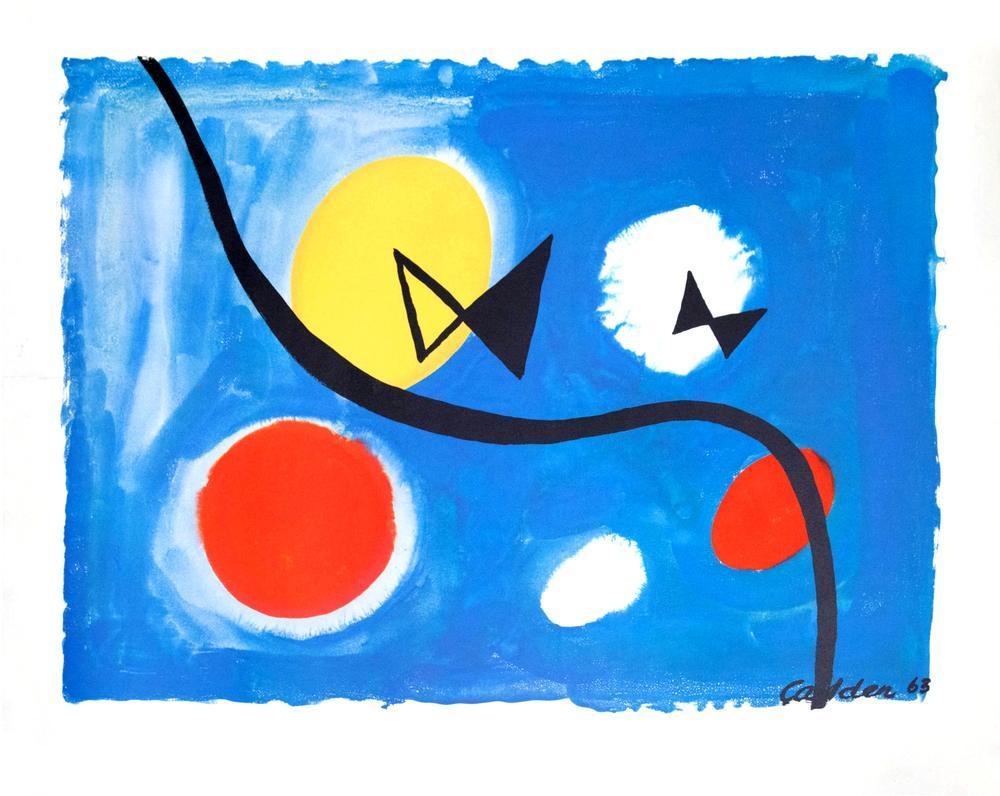 Alexander Calder Hovering Bowties, Kanvas Tablo, Alexander Calder