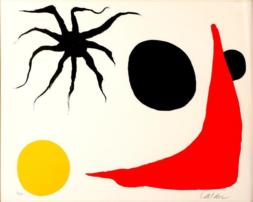 Alexander Calder Kırmızı Çorap, Kanvas Tablo, Alexander Calder