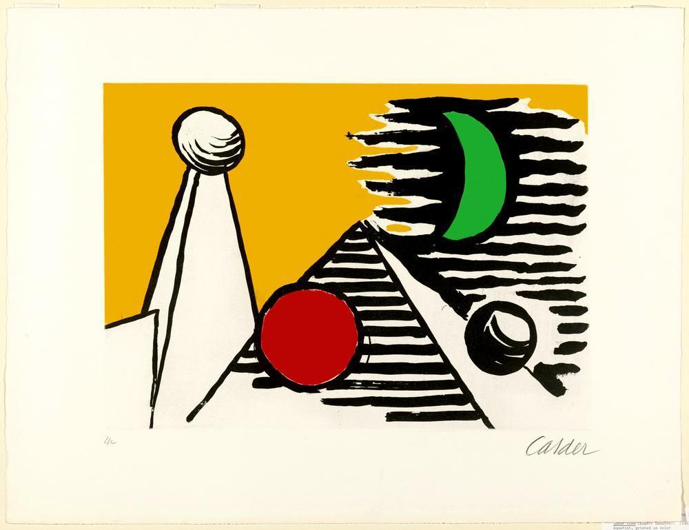 Alexander Calder Ay Görünümü, Kanvas Tablo, Alexander Calder