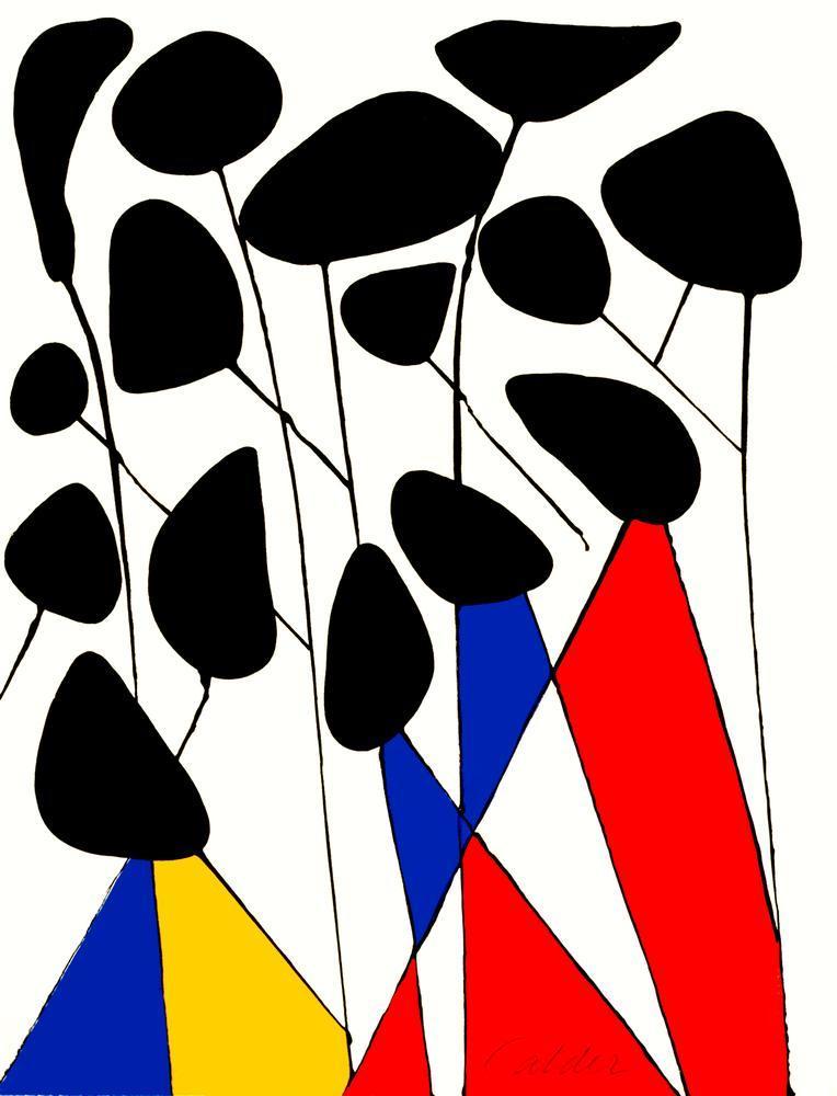 Alexander Calder Magic Yel Değirmeni Portföyü, Kanvas Tablo, Alexander Calder