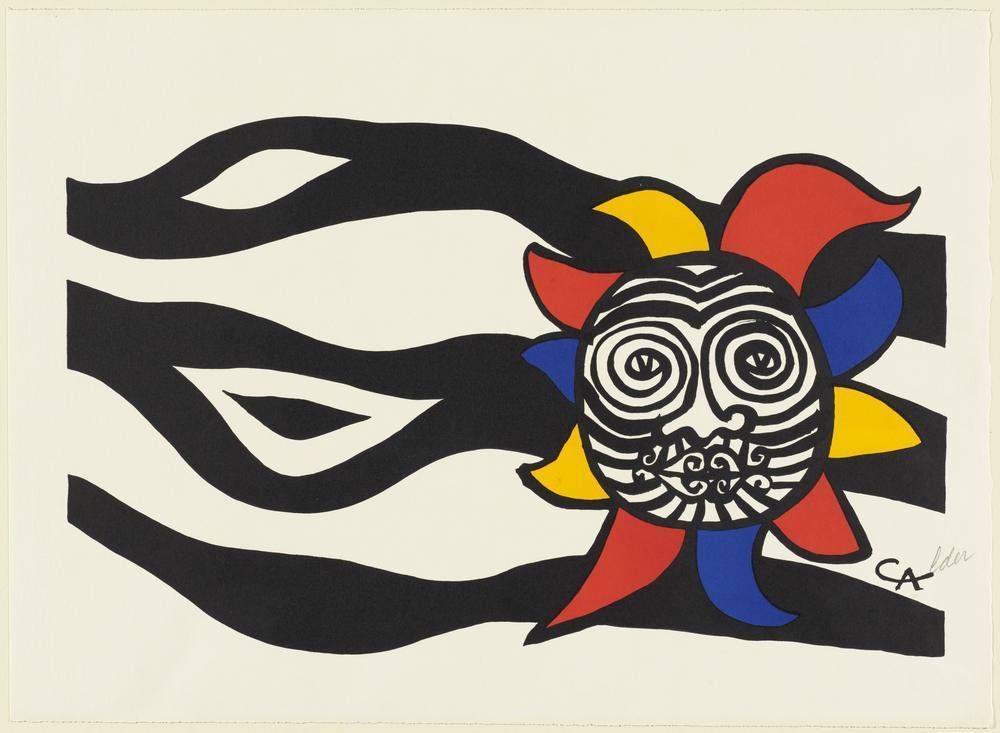 Alexander Calder Bir Rüzgar Güzünde Ay Işığı, Kanvas Tablo, Alexander Calder
