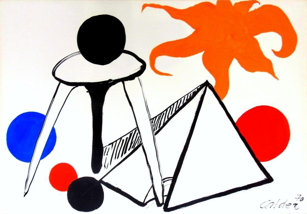 Alexander Calder Ay Üzerinde, Kanvas Tablo, Alexander Calder