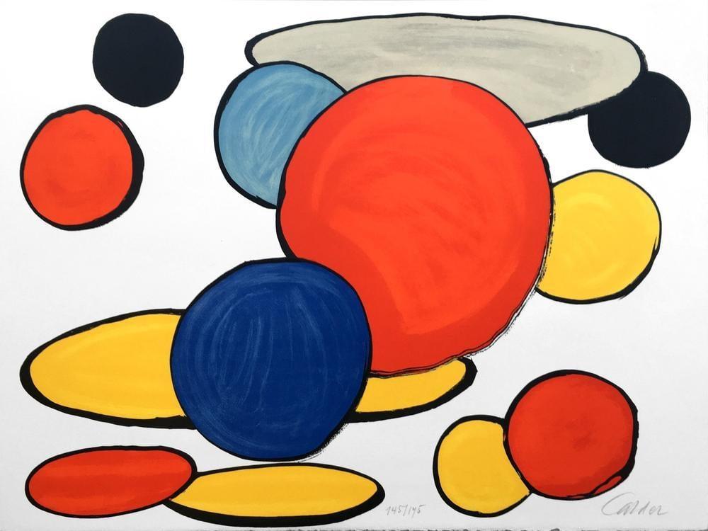 Alexander Calder Bitmemiş Devrimimiz Gri Elips, Kanvas Tablo, Alexander Calder