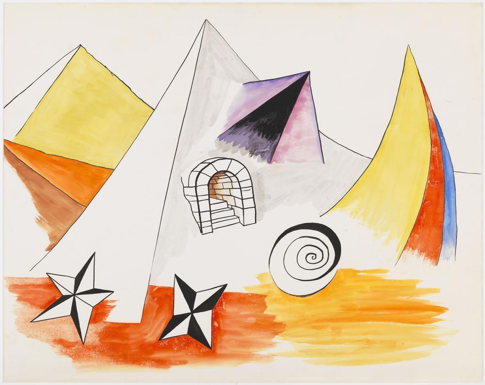 Alexander Calder Muhteşem Manzara, Kanvas Tablo, Alexander Calder