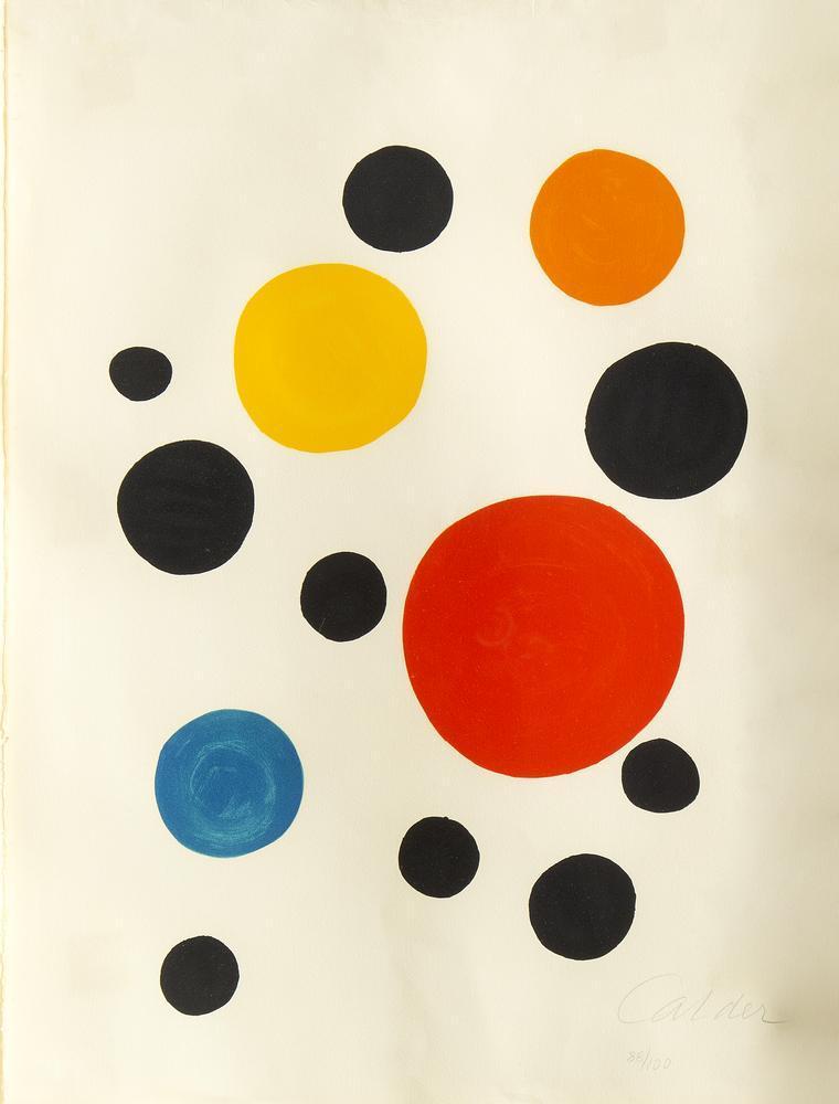 Alexander Calder Polka Dots Lithograph, Canvas, Alexander Calder, kanvas tablo, canvas print sales