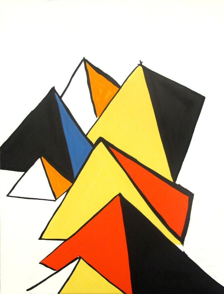 Alexander Calder Piramitler II, Figür, Alexander Calder, kanvas tablo, canvas print sales