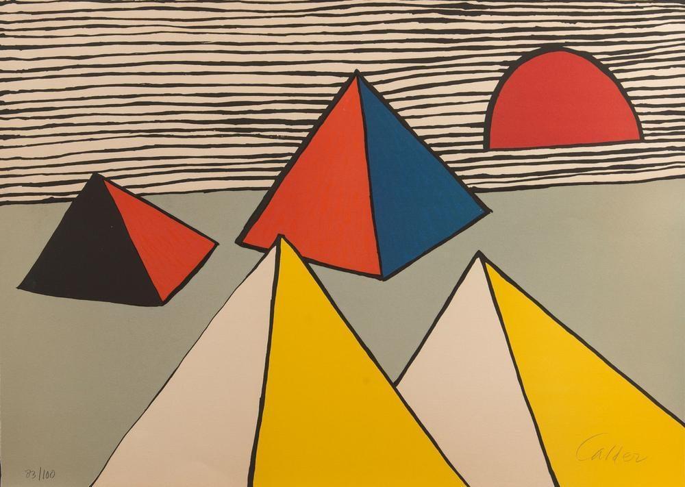 Alexander Calder Şafakta Piramitler, Figür, Alexander Calder, kanvas tablo, canvas print sales