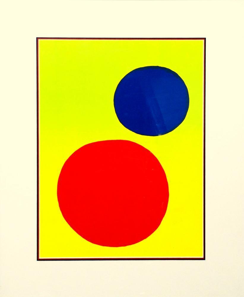Alexander Calder Kırmızı Ve Mavi Daire, Kanvas Tablo, Alexander Calder