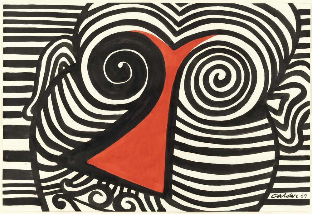 Alexander Calder Red Nose, Canvas, Alexander Calder, kanvas tablo, canvas print sales