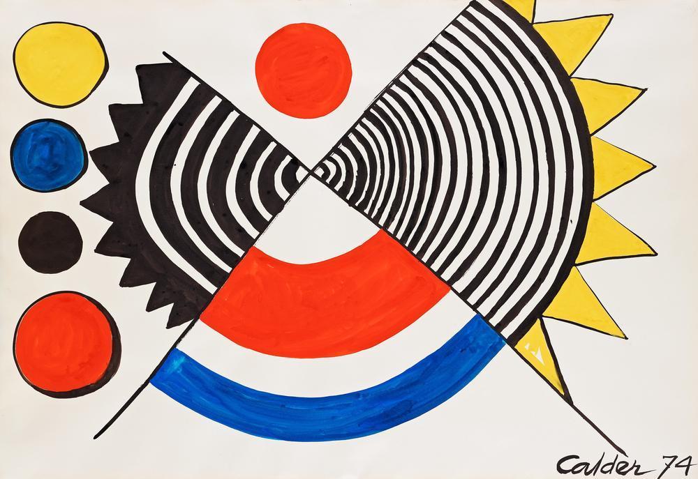 Alexander Calder Kumların Gülü, Kanvas Tablo, Alexander Calder