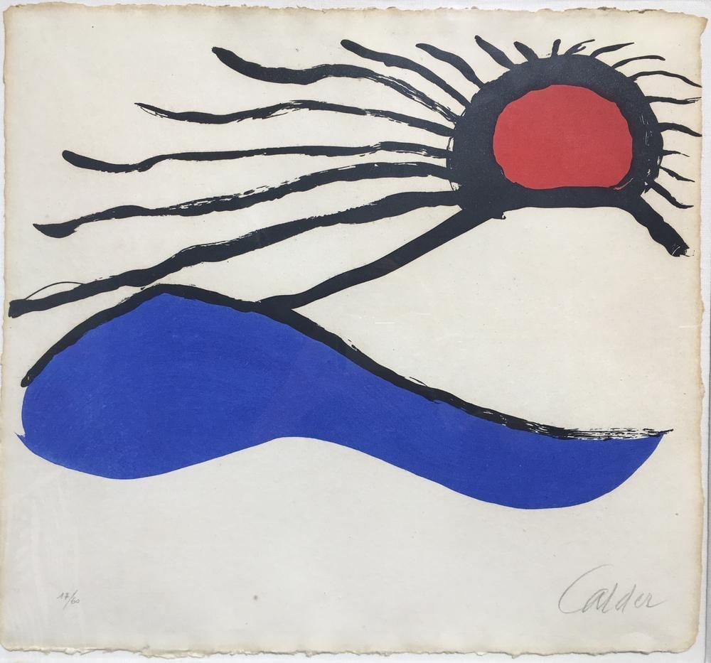 Alexander Calder Deniz Manzarası, Kanvas Tablo, Alexander Calder