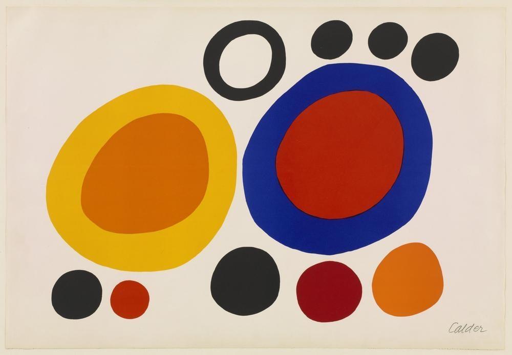 Alexander Calder Duman Halkaları, Kanvas Tablo, Alexander Calder