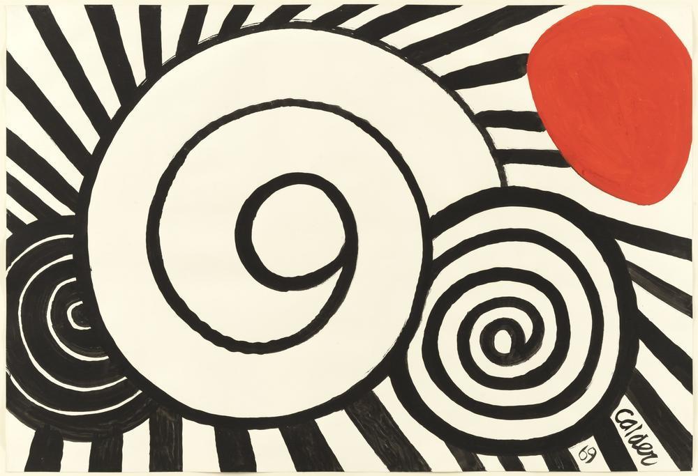 Alexander Calder Spiraller, Kanvas Tablo, Alexander Calder