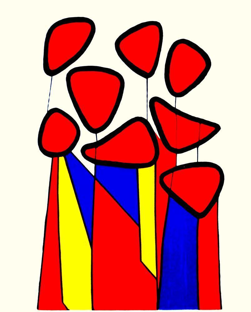 Alexander Calder Squash Blossoms, Canvas, Alexander Calder, kanvas tablo, canvas print sales