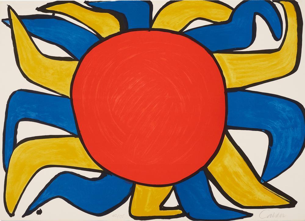 Alexander Calder Güneş, Kanvas Tablo, Alexander Calder