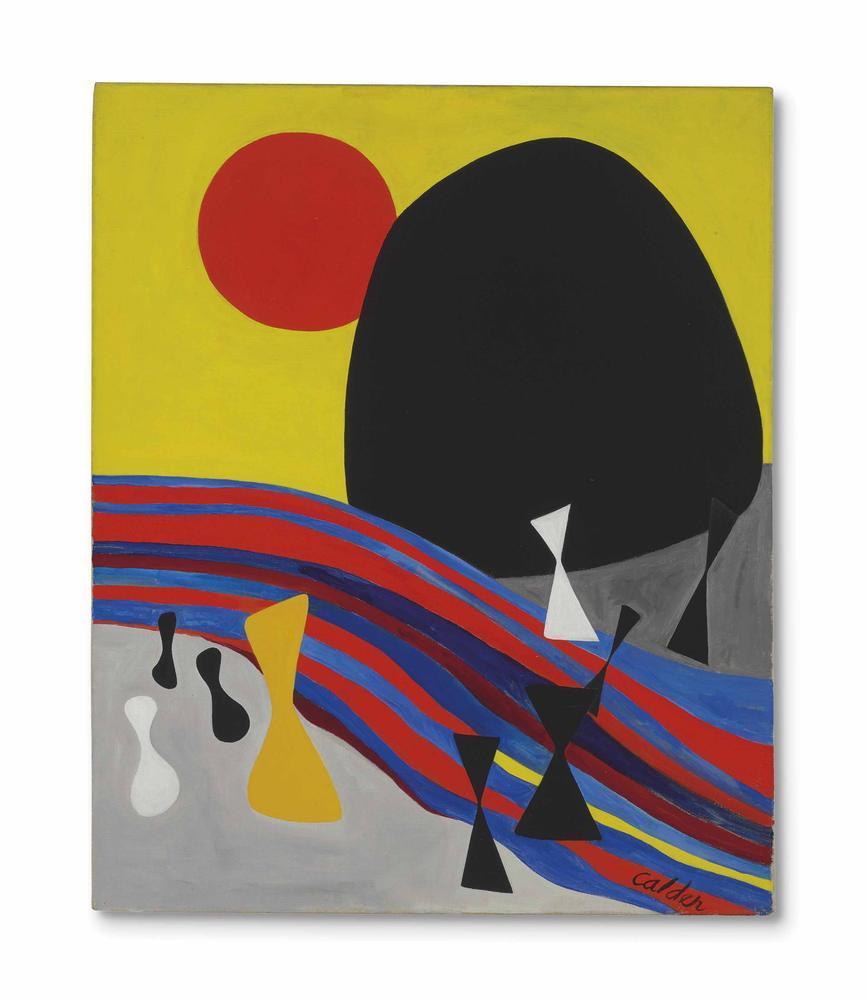 Alexander Calder Kara Dağ, Kanvas Tablo, Alexander Calder