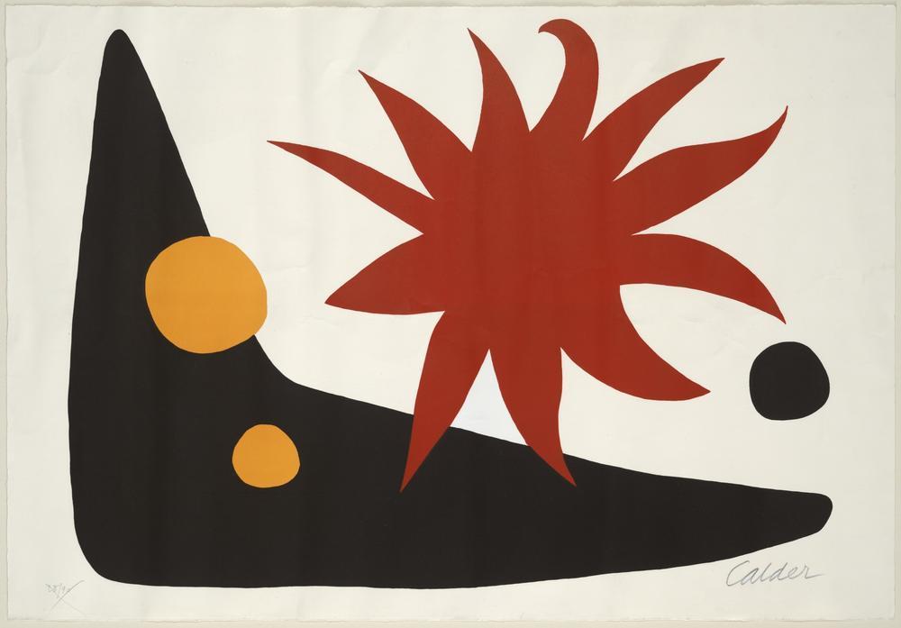 Alexander Calder Kızıl Güneş, Kanvas Tablo, Alexander Calder