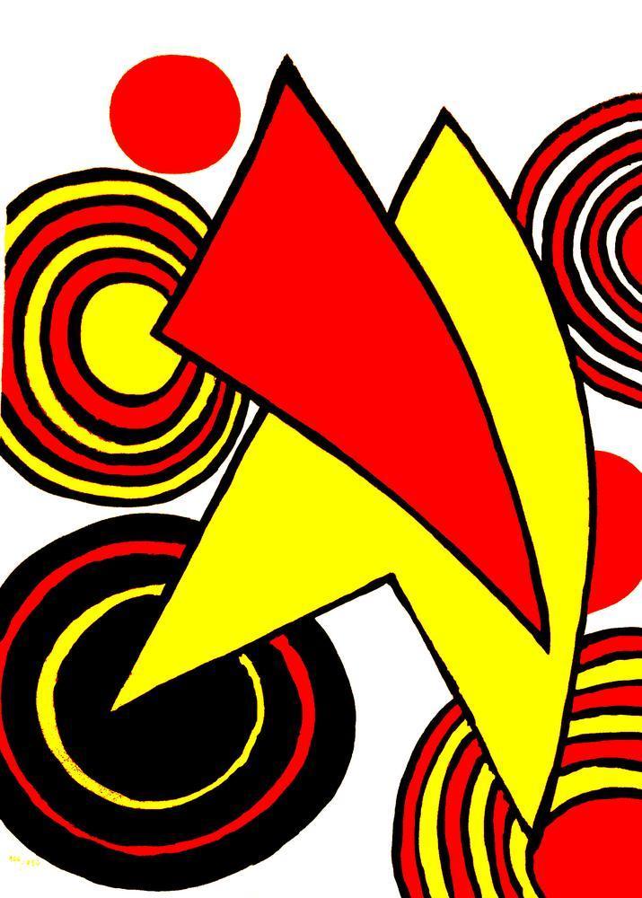 Alexander Calder Üçgenler Ve Spirale, Kanvas Tablo, Alexander Calder