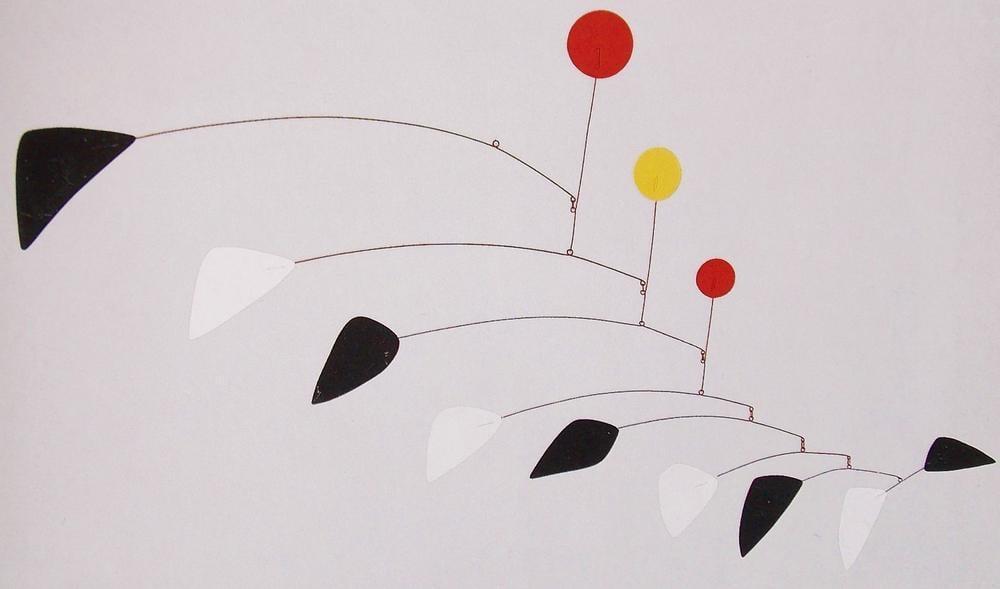 Alexander Calder Biri Eksik Üç Disk, Kanvas Tablo, Alexander Calder