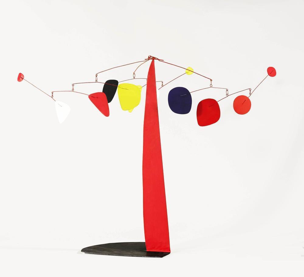 Alexander Calder Üç Tentacles, Kanvas Tablo, Alexander Calder