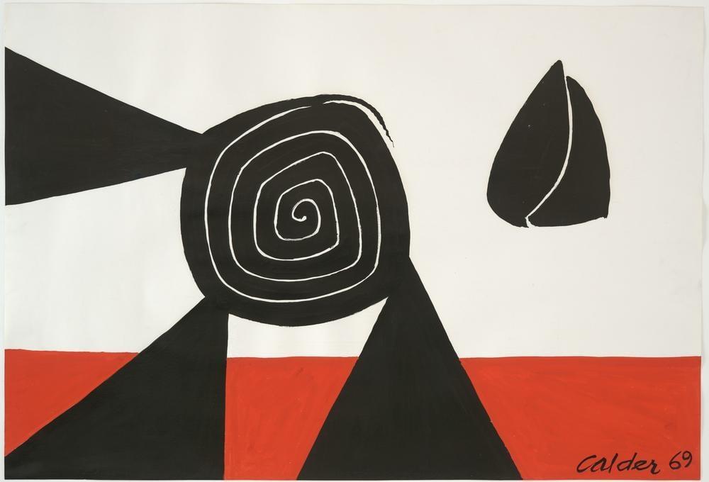 Alexander Calder İsimsiz II, Kanvas Tablo, Alexander Calder