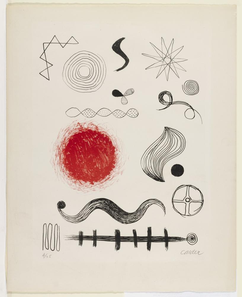 Alexander Calder İsimsiz IV, Kanvas Tablo, Alexander Calder