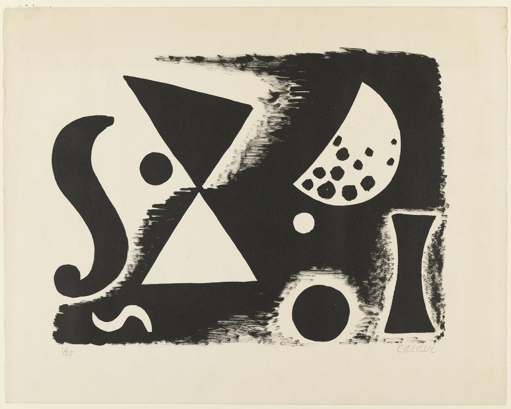 Alexander Calder İsimsiz VII, Kanvas Tablo, Alexander Calder