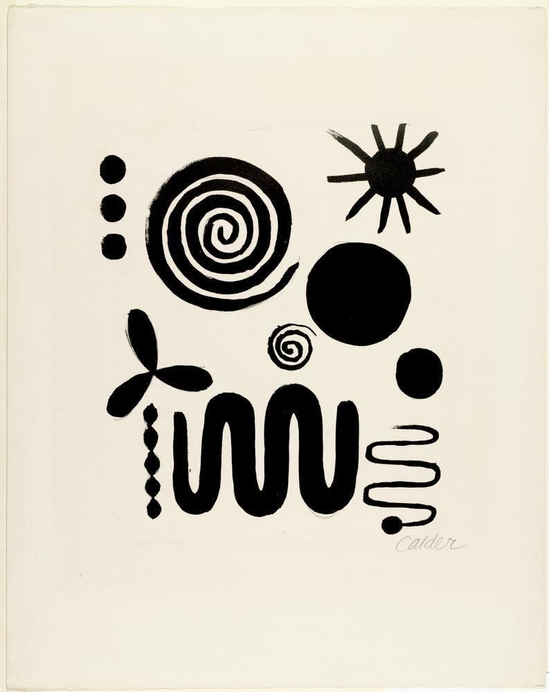 Alexander Calder İsimsiz IX, Kanvas Tablo, Alexander Calder