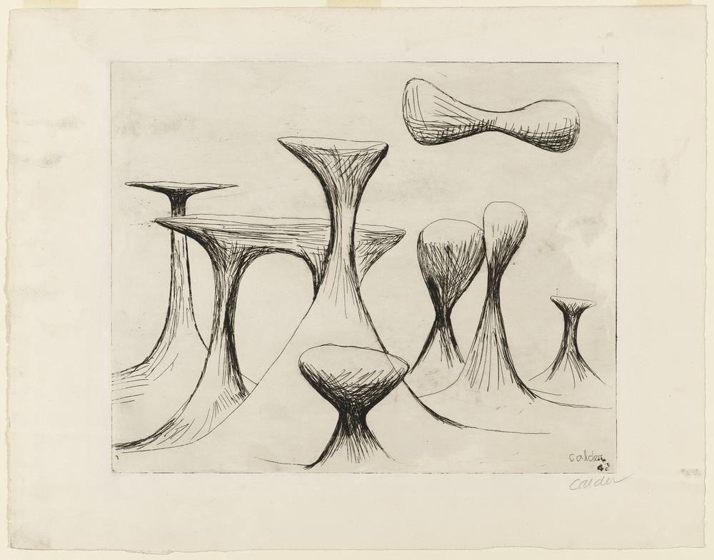 Alexander Calder İsimsiz XII, Kanvas Tablo, Alexander Calder
