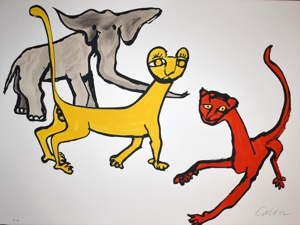 Alexander Calder Hayvanlar, Kanvas Tablo, Alexander Calder