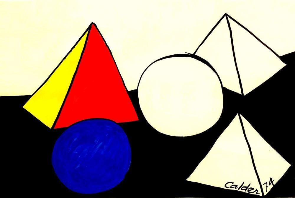 Alexander Calder Güncel Bir İnceleme, Kanvas Tablo, Alexander Calder