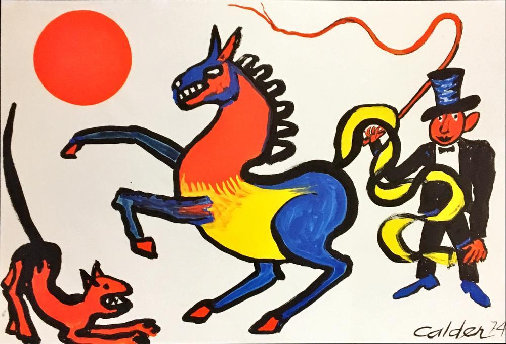 Alexander Calder Tricolored Horse, Figure, Alexander Calder, kanvas tablo, canvas print sales