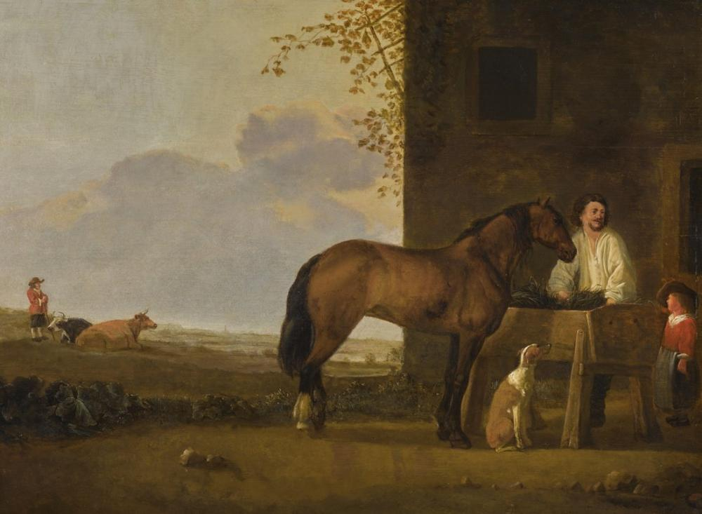 Abraham van Calraet, Aygır, Kanvas Tablo, Abraham van Calraet