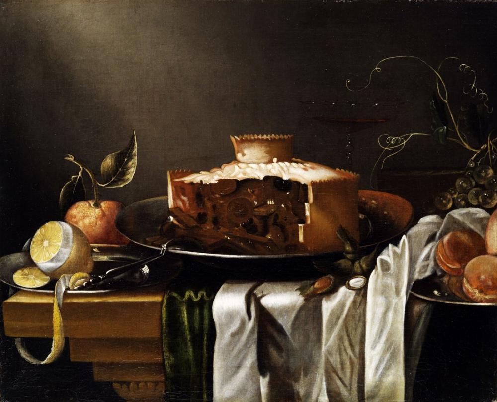 Abraham van Calraet, Pasta ile Natürmort, Kanvas Tablo, Abraham van Calraet
